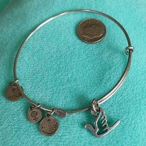 Alex and Ani BANGLE Dove charm bracelet